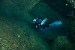 John at the Coal Chute Cove Sea Caves